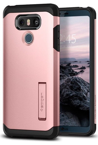 Spigen LG G6 Kılıf Tough Armor Rose Gold - A21CS21365