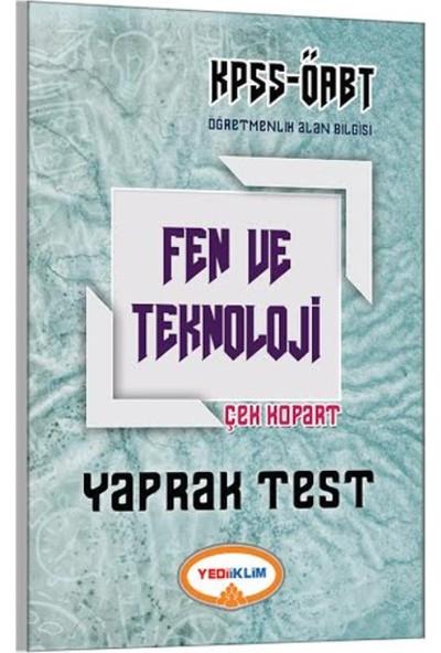 Yediiklim Yayınları ÖABT 2017 Fen Ve Teknoloji Çek Kopart Yaprak Test