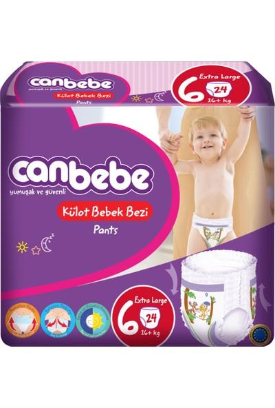 Canbebe Külotlu Bebek Bezi 6 Numara Extra Large 24 Adet