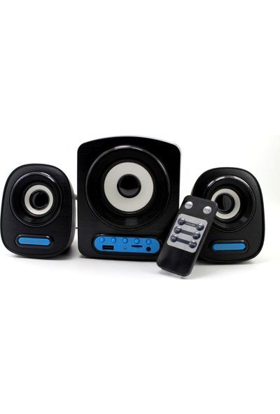 Fulltech FT-5702 2+1 Usb+Sd+Kumanda Destekli Multimedia Speaker