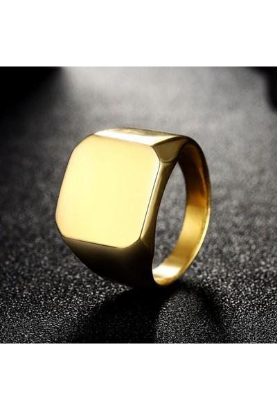 Chavin Gold Sarı Bayan-Erkek Çelik Yüzük Dn43 19