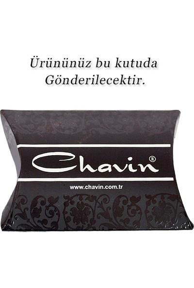 Chavin Kral Tacı Motifli Beyaz Tek Taş Küpe Dn45