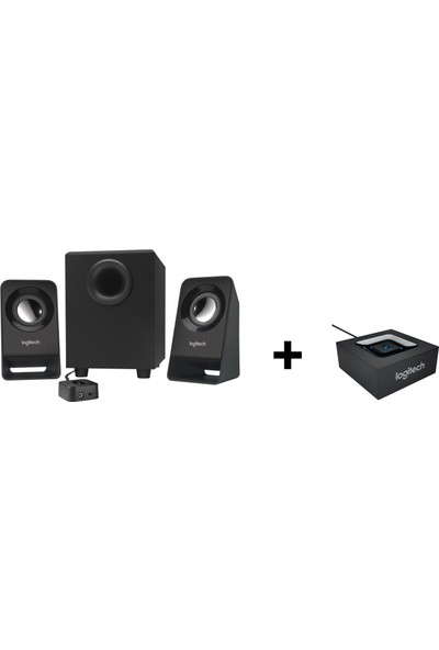 Logitech Z213 Speaker + Bluetooth Adaptör