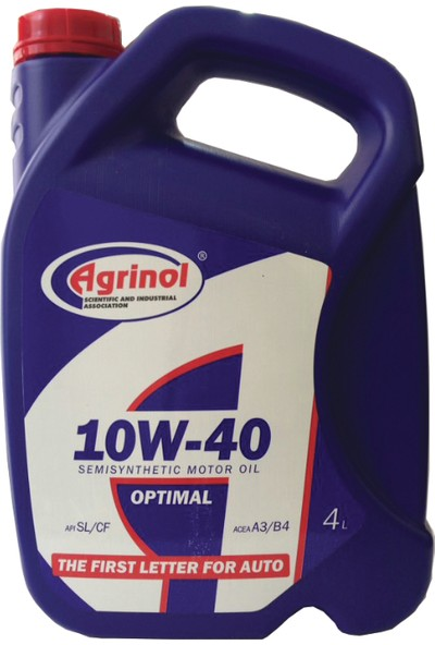 Agrinol 10W-40 A3/B4 4 Litre Motor Yağı