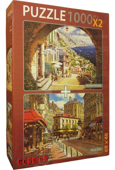 Gordion Games Archway Positano - Reu Du Soleil 2 x 1000 Puzzle