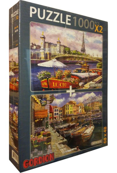 Gordion Games Cafe In Classis - Along The Seine 2 x 1000 Puzzle