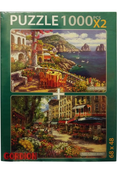 Gordion Games Paris Flower Market - Capri Morning 2 x 1000 Puzzle