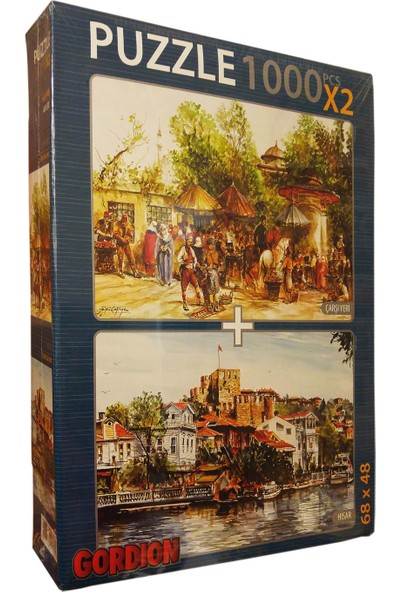 Gordion Games Hisar - Çarşı Yeri 2 x 1000 Puzzle