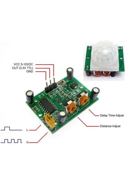 China Hc-Sr501 Ayarlanabilir Ir Hareket Algılama Sensörü - Pır Sensör