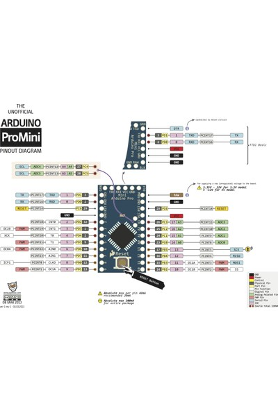 China Arduino Pro Mini 328 - 5V/16Mhz Header'Lı