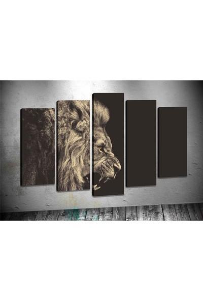 Caddeko Pl42 Kürkeyen Aslan Kanvas Tablo 70 x 100 cm