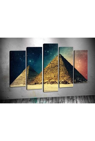Caddeko Rpt27 Piramitler Mısır Kanvas Tablo 80 x 125 cm