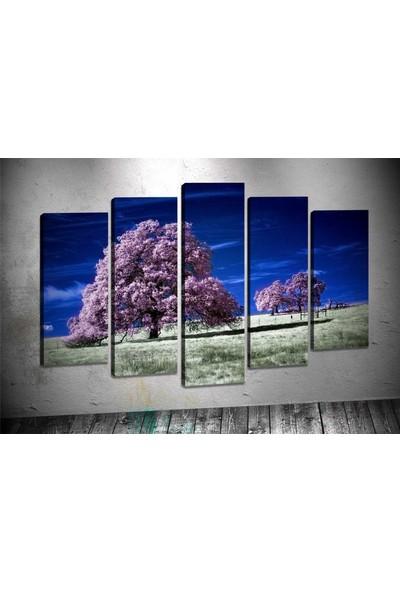 Caddeko Rpt43 Pembe Ağaçlar Kanvas Tablo 70 x 100 cm