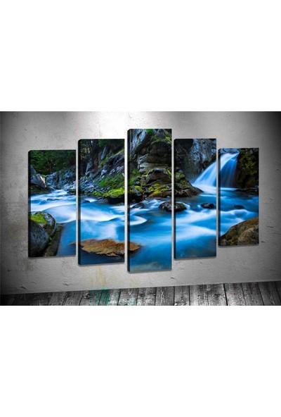 Caddeko Rpt79 Şelale Kanvas Tablo 70 x 100 cm