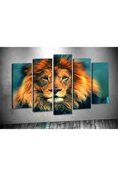 Caddeko Rpt102 Aslan Kanvas Tablo 70 x 100 cm