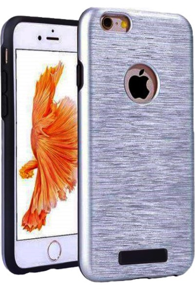Kkd Apple iPhone 5 / 5s Kılıf Silikon Metalik Zırh 360 Tam Koruma + izore