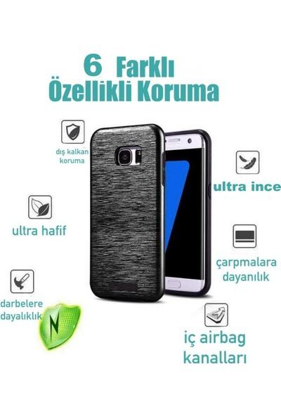 Kkd Samsung Galaxy A7 (2016) Kılıf Slikon Metalik Zırh Silim 360 Tam Koruma +Cam