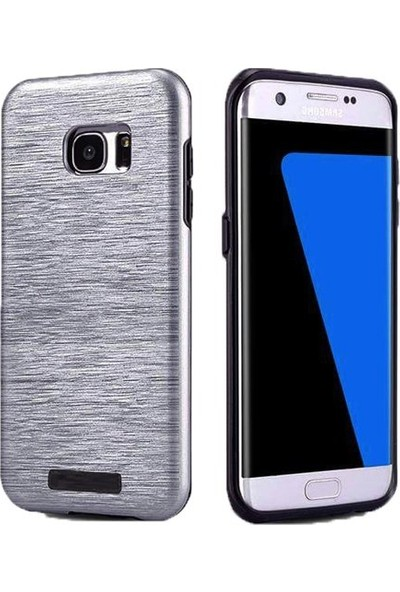 Kkd Samsung Galaxy J5 (2015) Kılıf Slikon Metalik Zırh Silim 360 Tam Koruma +Cam