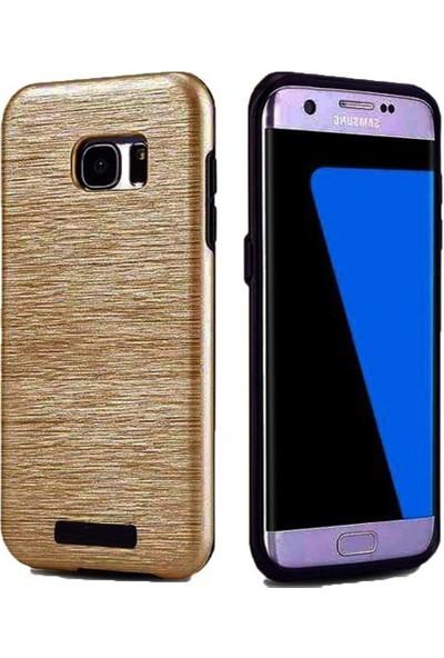 Kkd Samsung Galaxy J7 (2015) Kılıf Slikon Metalik Zırh Silim 360 Tam Koruma +Cam