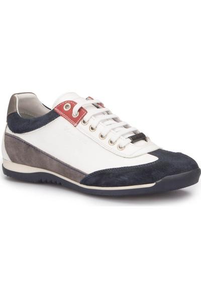 Dockers 216130 Beyaz Lacivert Erkek Deri Ayakkabı