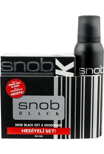 Snob Black Edt 100 ml Erkek Parfümü + 150 ml Deodorant Set