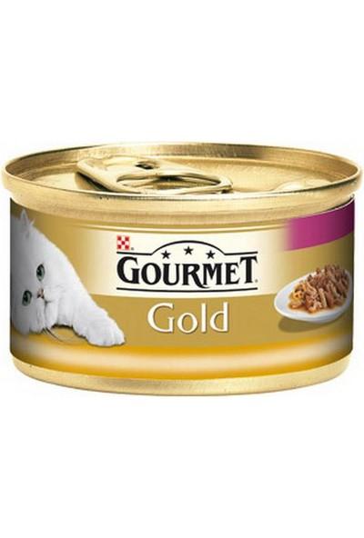 Gourmet Purina Gold Hindi Ve Ördek Parça Etli - Çifte Lezzet 85 G Yaş Mama