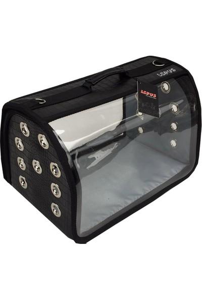 Lepus Flybag Kedi Köpek Taşıma Çantası Siyah 25*35*40 Cm