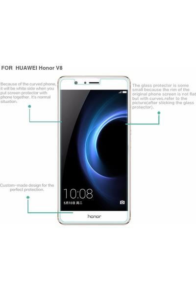 Microcase Huawei Honor V8 Tempered Glass Cam Ekran Koruma