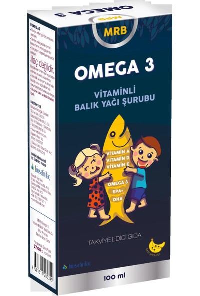 Mrb Omega 3 Balık Yağı 100 ml (Muz Aromalı)