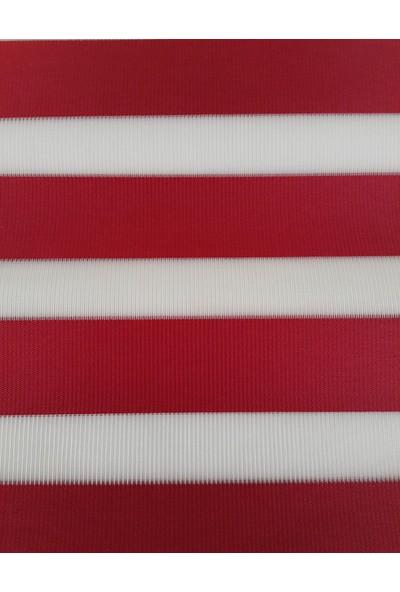 ZebraEvim Bambu Kırmızı Zebra Perde Etek Dilimli