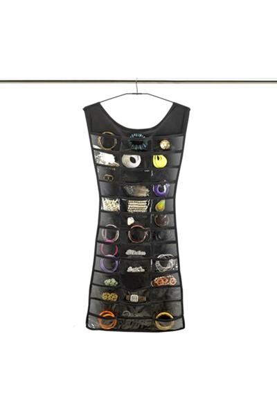 Elbise Şeklinde Takı Organize Edici Siyah