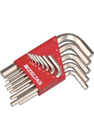 İzeltaş 4900 Allen Anahtar Takım Altı Köşe 10 Parça