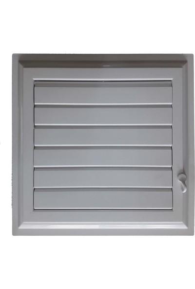 Plastik Menfez 45X45 Yapışkan Bantlı Beyaz