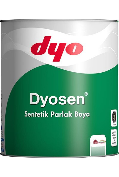 Dyosen Sentetik Parlak Boya 2,5 Lt Beyaz