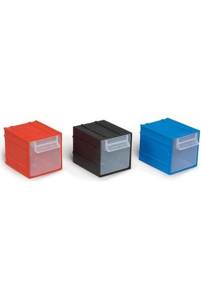 Portbag Pç014 Çekmece Mavi-Kırmızı