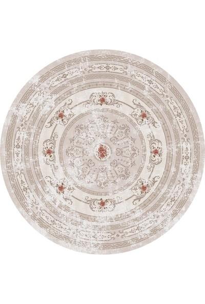 Brillant Latex Halı Yıldız Yuvarlak 150x150 HLD11315.801 (Püsküllü)