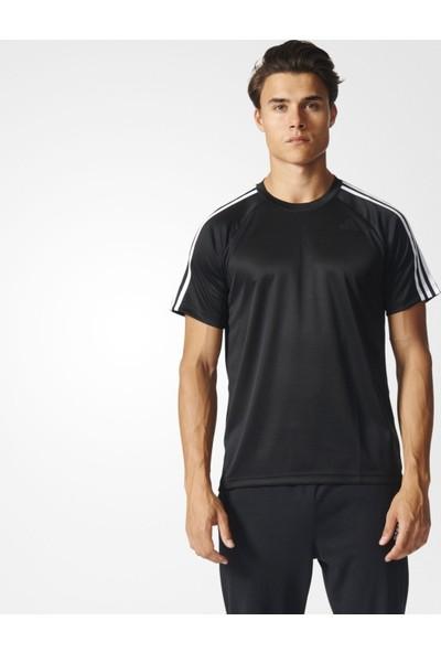 Adidas Bk0970 D2M Tee 3S Erkek Training T-Shirt