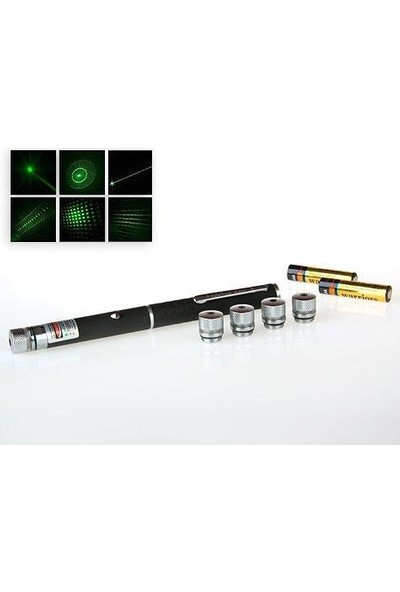 Ennalbur Yeşil Lazer Pointer 50 Mw 15 Km Etkili (5 Başlıklı)