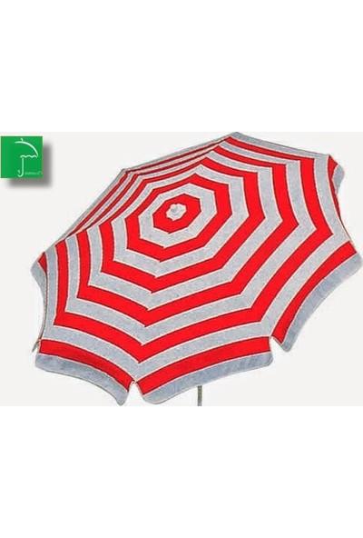 Plaj Kırmızı 220 Cm 10 Telli Bahçe Plaj Şemsiye + Bidon Hediyeli