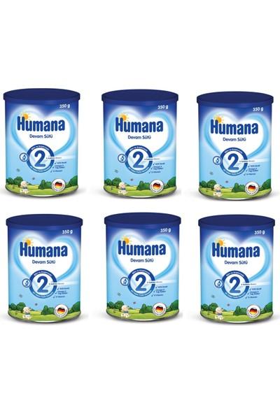 Humana 2 Metal Kutulu Devam Sütü 800 gr - 6'lı