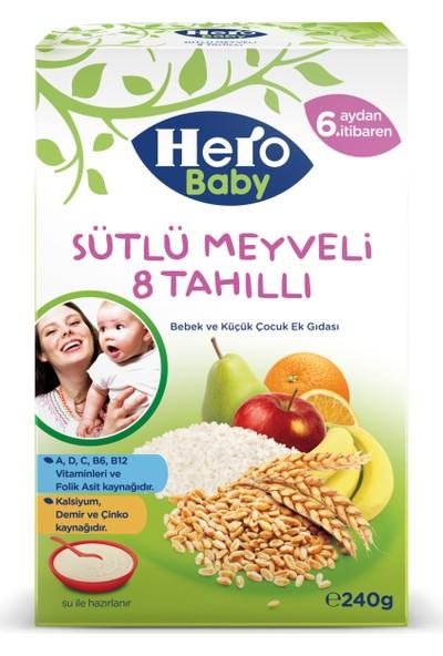 Hero Baby Sütlü Meyveli 8 Tahıllı Kaşık Maması 240 gr
