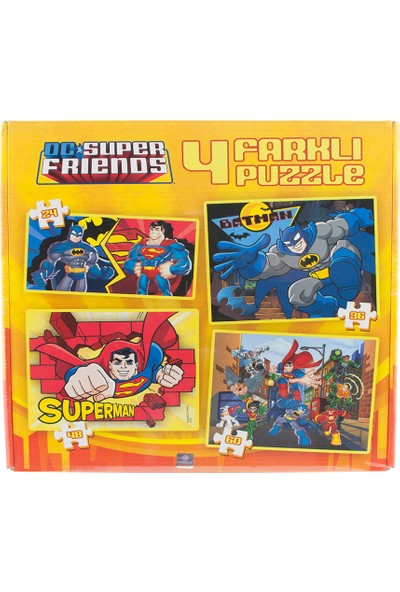 Dc Super Friends 4'lü Puzzle