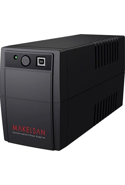 Makelsan Lıon Plus 650 Va Line Interactive 5-15 Dk. Led Ekran 1X7Ah Yuasa Akülü (Usb)