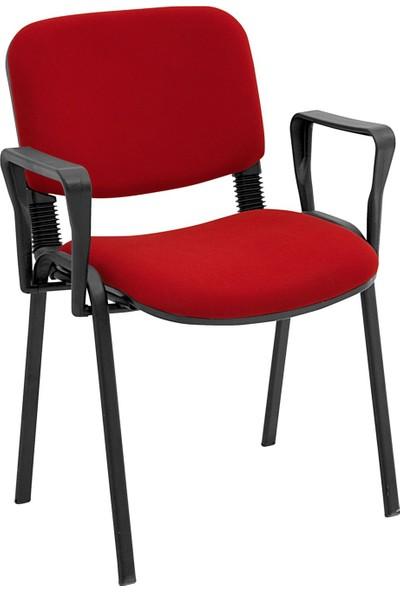 Ofisbazaar Form Sandalye Kollu Bordo