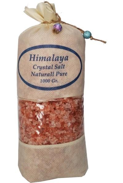 Himalaya İthal Himalaya Tuzu Granül İri Tane Pembe - 1 Kg. Orjinal Bez Torba