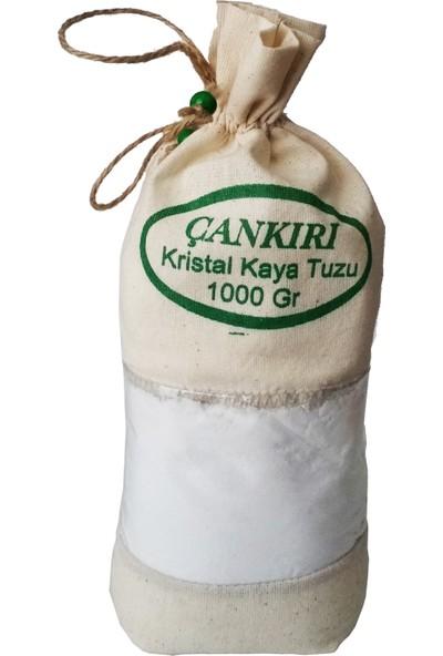Çankırı İthal Kristal Kaya Tuzu ( İnce Çekilmiş Beyaz ) Bez Torbada 1 Kg.