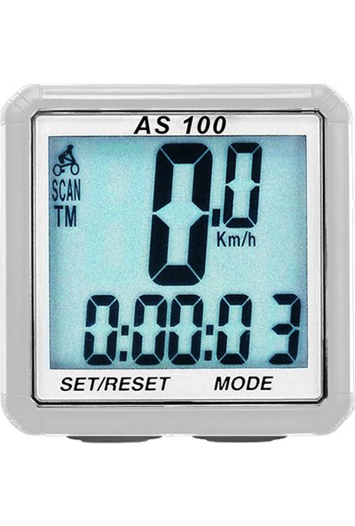 As-Size AS-100 Beyaz 8 Fonksiyon Kablolu Kilometre Saati