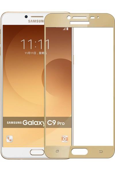 Microsonic Samsung Galaxy C9 Pro 3D Kavisli Temperli Cam Ekran koruyucu Film