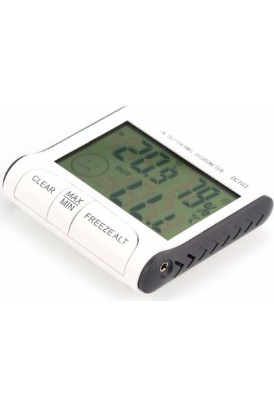 Büyük Ekranlı İç Dış Mekan Sıcaklık,Nem ölçer,Termometre thr137