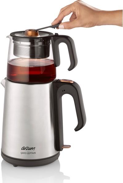 Arzum AR3024 Çaycı Heptaze Çay Makinesi - Inox / Cam